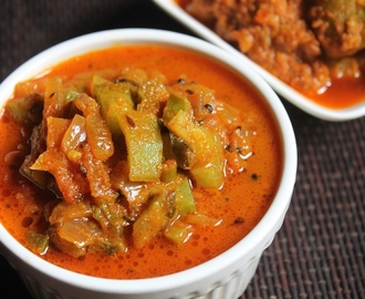 Easy Ridge Gourd Subzi Recipe - Peerkangai Curry Recipe
