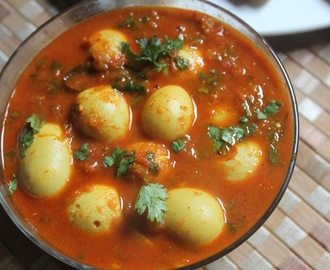 Quail Egg Curry Recipe - Kaada Mutta Curry Recipe