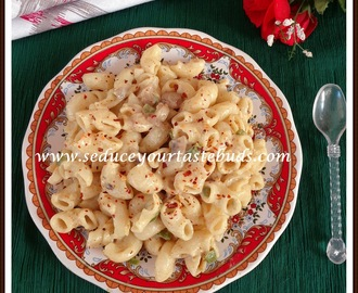 Creamy Pasta with Mushroom and Capsicum