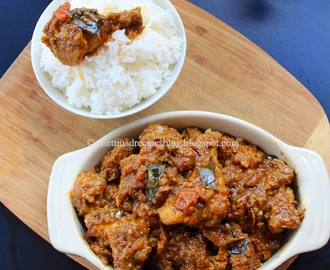 Chettinad Chicken Fry recipe  / Kozhi Varuval – Pressure cooker method.