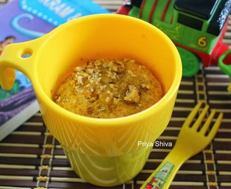 Eggless Whole wheat Carrot Mug Cake