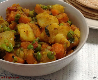 Mixed Veg Curry| Aloo Gajar Matar Curry