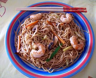 Chow Mein con Gambas