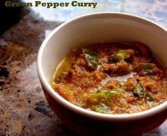 Spicy Capsicum Curry, 8 years of Blogging and a Quick Re-cap
