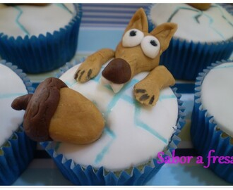 Ice Age cupcakes