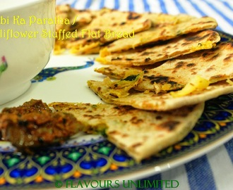 Cauliflower Stuffed Flat Bread /Gobi Paratha