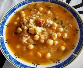 Potaje de Garbanzos con Arroz