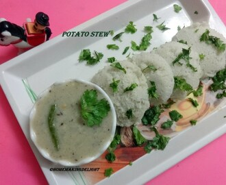 Potato Stew Recipe – Kerala Style potatoes stewed in coconut milk