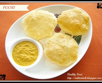 POORI / PUFFED POORI RECIPE / SOUTH INDIAN BREAKFAST RECIPE