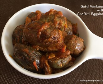 Masala Gutti Vankaya with Graffiti Eggplant