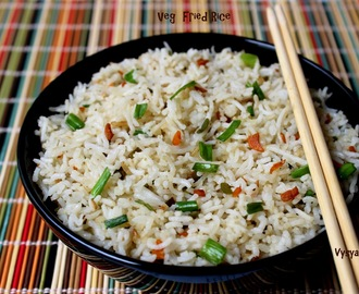Veg Fried Rice -  Easy Fried Rice - Vegetable Fried Rice