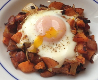 Breakfast Sweet Potato Hash with Eggs