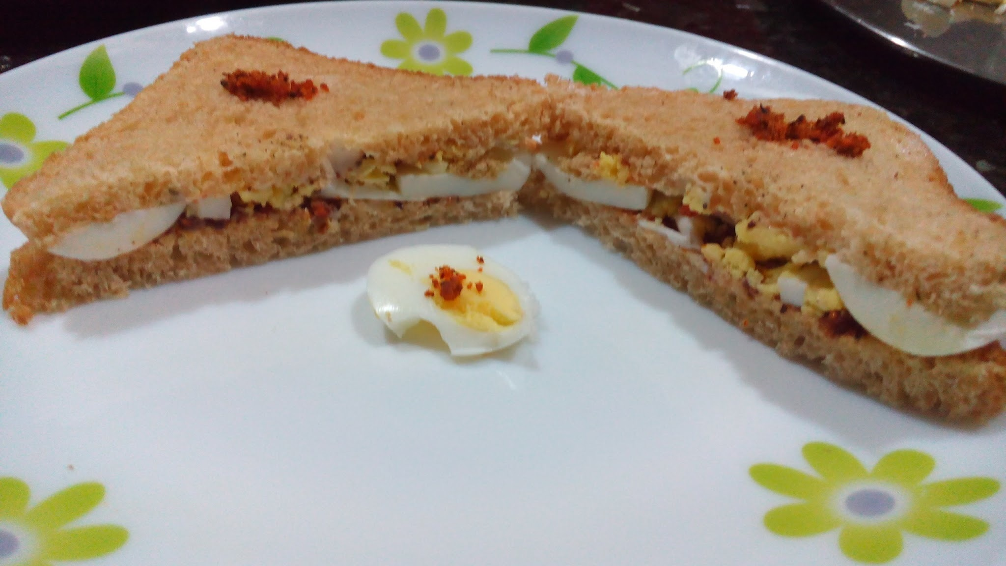 Egg Mayo Garlic Sandwich