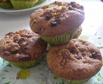 Muffins de Pistachio e Chocolate branco | Pistacchio and White Chocolate Muffins