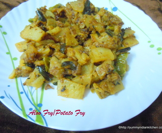 Aloo Fry Recipe or Potato Fry