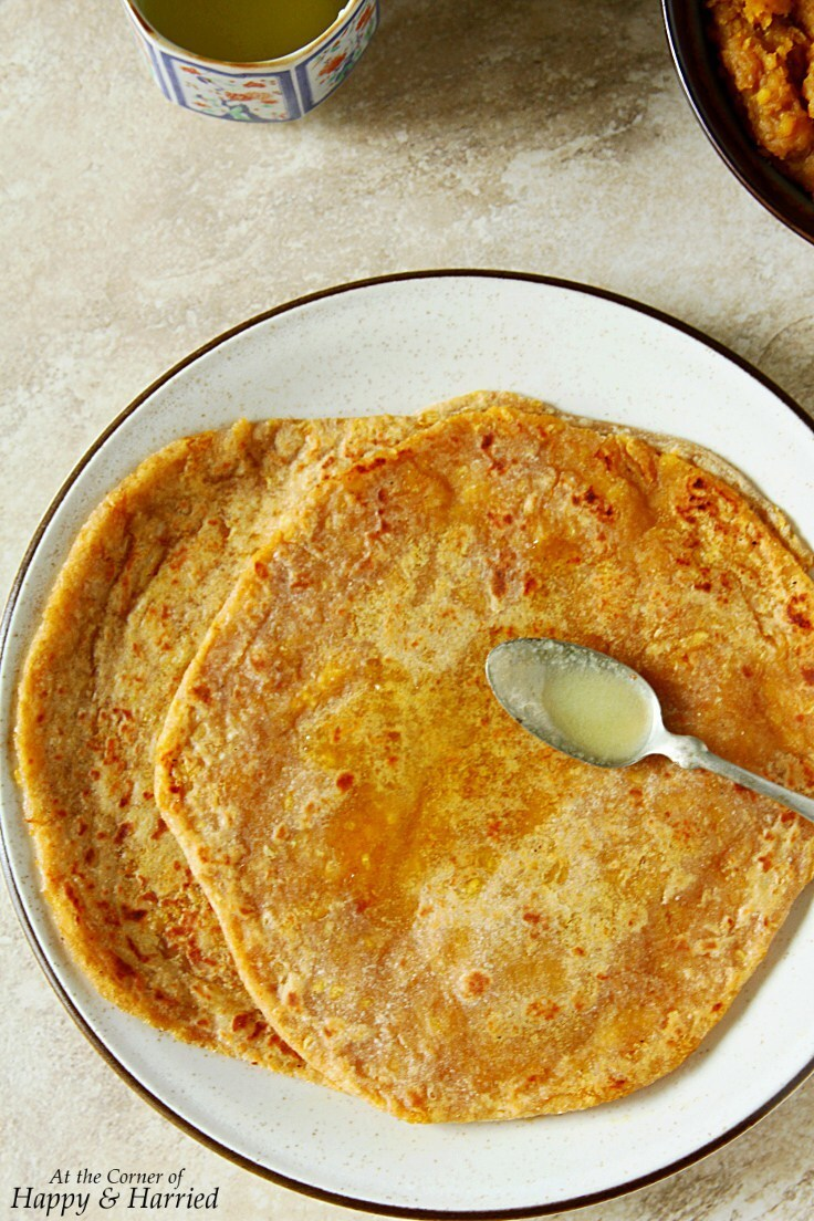 Puran Poli {Sweet Lentil Stuffed Flatbreads}