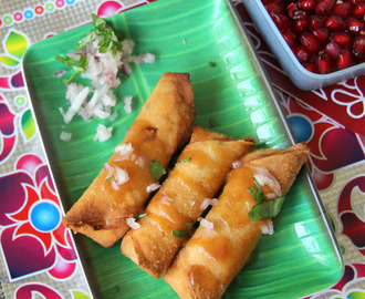 Onion Poha roll - Onion Flatten rice roll - Simple snack recipe