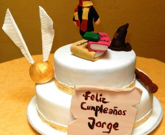 TARTA DE NARANJA Y CHOCOLATE CON HARRY POTTER