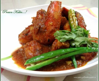 Prawn Kalia....Chingri Kalia...Spicy Prawn Curry (Bengali Style) ..!!