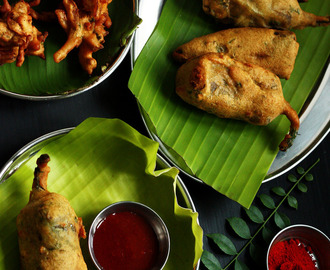 Paneer Stuffed Mirchi Bajji/Pakoda Recipe ~ How to Make Stuffed Mirchi Pakoda