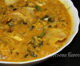 Maach-er Matha diye Moog-er Dal / Yellow Lentil Soup with Fish Head