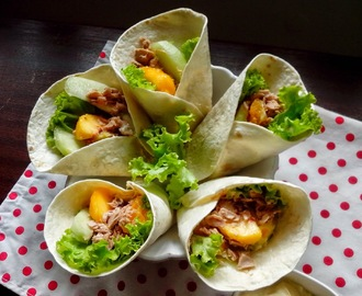 Wraps de Atum e Fruta light