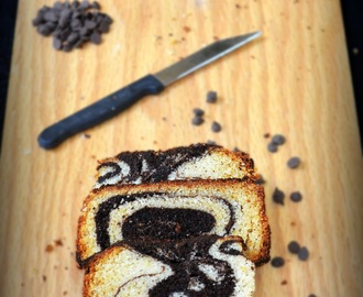 EGGLESS MARBLE CAKE RECIPE / CHOCOLATE VANILLA EGGLESS CAKE