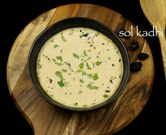 sol kadhi recipe | kokum curry recipe | kokum kadhi recipe