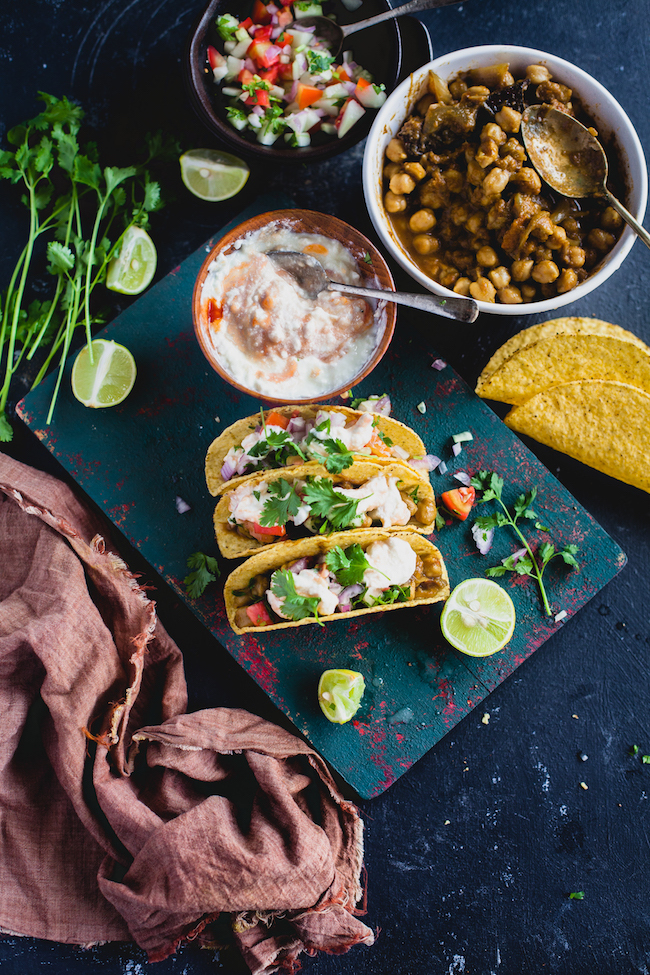 Chole Taco (Indian Spiced Chickpea Taco)