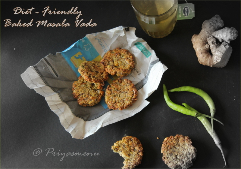 Diet Friendly Baked Masala Vada / Diet Friendly Recipe - 36 / #100dietrecipes