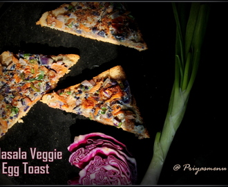 Masala Veggie Egg Toast / Diet Friendly Recipe - 37 / #100dietrecipes