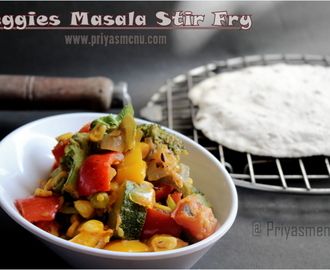 Veggies Masala Stir Fry / Diet Friendly Recipe - 33 / #100dietrecipes