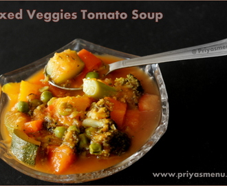 Mixed Veggies Tomato Soup / Diet Friendly Recipe - 29 / #100dietrecipes