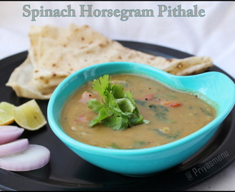 Spinach Horse gram Pithale / Diet Friendly Recipe - 27 / #100dietrecipes
