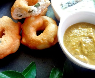 Medu vadas from  Idli /  dosa batter