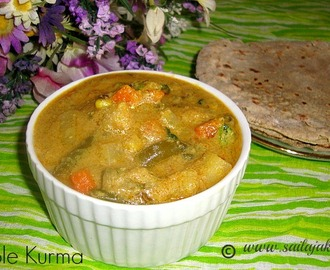 Mixed Vegetable Kurma Recipe / Vegetable Kurma Recipe