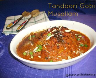 Tandoori Gobi Musallam Recipe / Gobhi Musallam Recipe / Whole Cauliflower In Mughlai Gravy