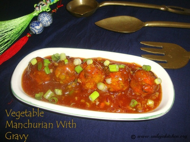 Vegetable Manchurian Recipe / Mixed Vegetable Manchurian With Gravy / Chinese Manchurian Recipe