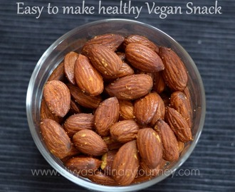 Oven roasted Almonds | Roasted Almonds in Oven | How to roast almonds in oven?