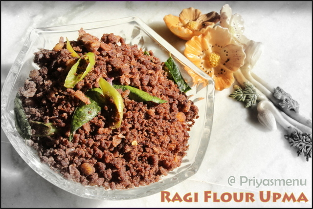 Ragi Flour Upma ( Dry ) / Diet Friendly Recipes - 13 / #100dietrecipes
