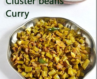 Kothavarangai poriyal/Cluster Beans Curry recipe