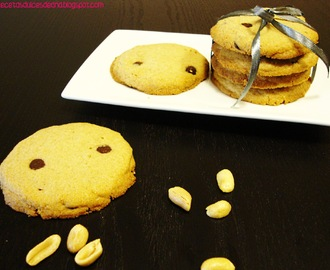 Galletas de crema de cacahuete y chocolate