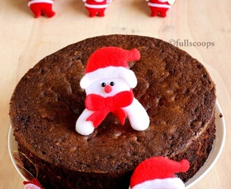 Chocolate Fruit Cake | Chocolate Christmas Cake Recipe