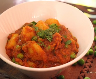 Aloo Matar / Potato and Peas curry recipe