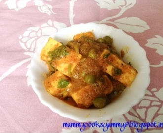 Matar paneer sabzi / Peas cottage cheese gravy / peas paneer curry /Howto make matar paneer masala curry