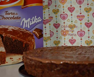 Tarta con chocolate Milka