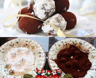 Chocolate Truffles On 3 Ingredients / Sjokoladetrøfler På 3 Ingredienser