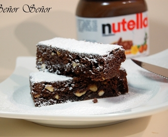 Brownie de Nutella y avellanas