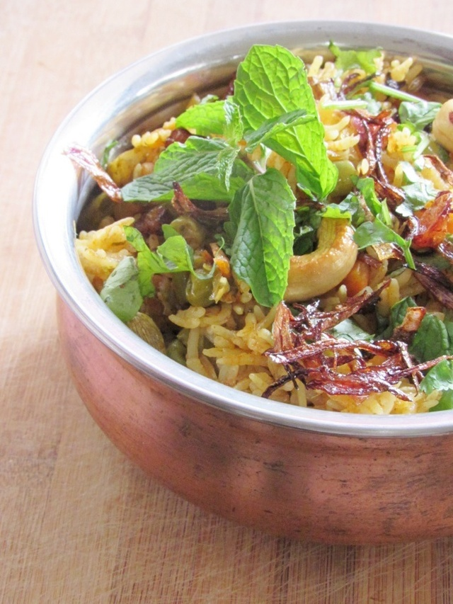 Vegetable Biriyani In Pressure Cooker Recipe