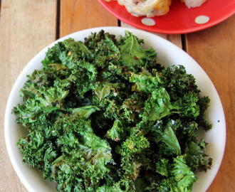 Kale Crisps - Simple snack recipe - Kale recipes - Healthy snack recipes